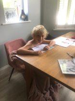 Theo working hard