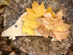On the fifth day of Christmas, my #ForestSchool gave to me...five gold leaves!