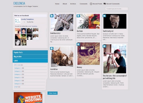 2. Exelencia Responsive Photography Blogger Template