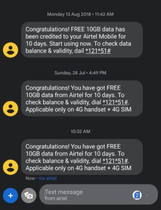 Get Free 10GB Airtel 4G Data Missed Call Number