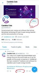 Candela Coin Air Drop Refer Earn