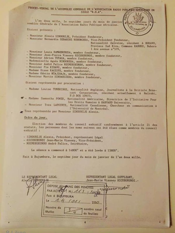 DOCUMENT BURUNDI SAMANTHA POWER