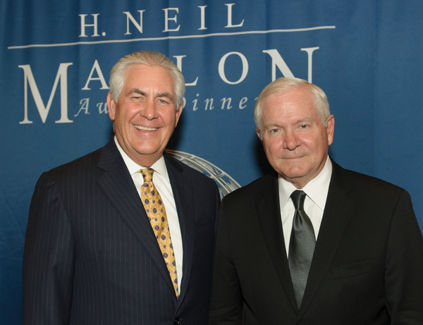 Mallon Award Rex W.Tillerson CEO, Exxon Mobil Corporation-Dallas World Affairs Council