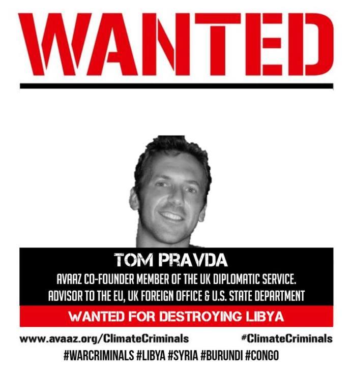 WANTED TOM PRAVDA LIBYA