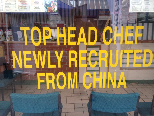 top head chef newly recruited from china