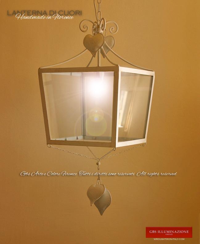 Lanterna Di Cuori GBS Illuminazione Ferro Battuto
