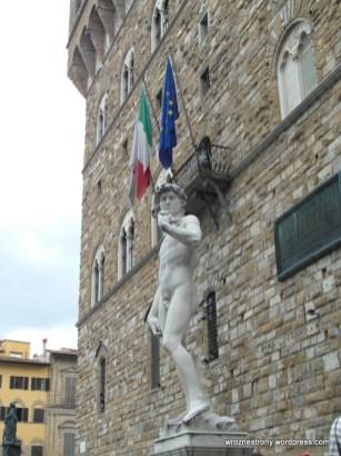 Kopia posągu Dawida pod Pallazzo Vecchio