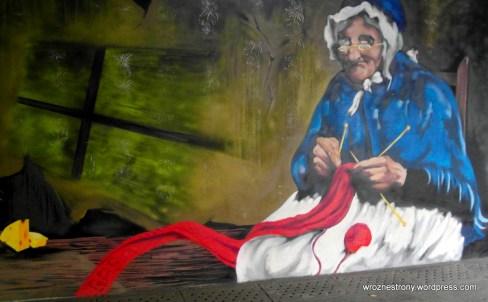 Graffiti w przejściu podziemnym