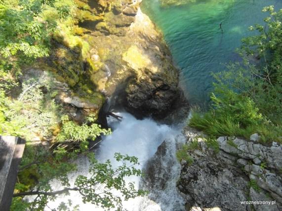 Wodospad Šum widziany z góry