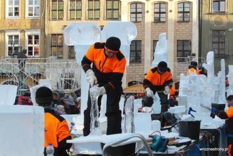 rzeźby lodowe w Poznaniu na Starym Rynku