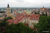 Widok na Przemyśl z baszty zamku