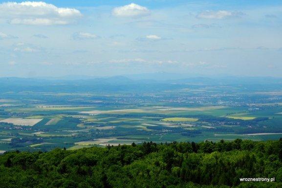 Widok ze Ślęży na Dolny Śląsk