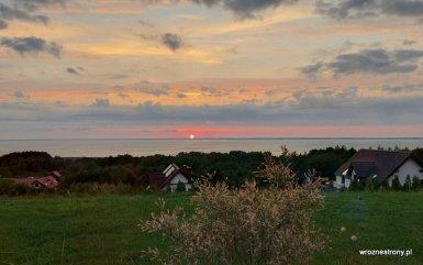 Zachód słońca nad Zalewem Wiślanym