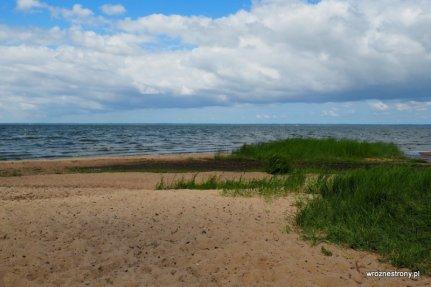 Zalew Wiślany - plaża w Suchaczu