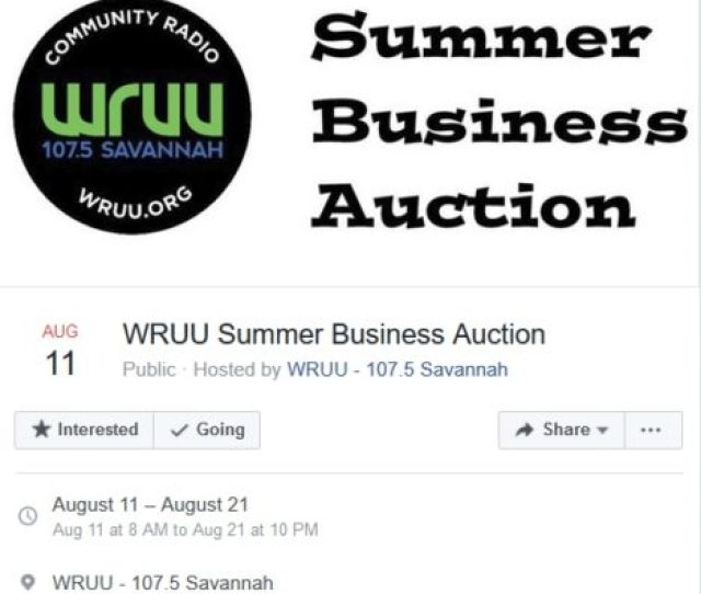 Save The Date Aug 11 Wruu Summer Business Auction