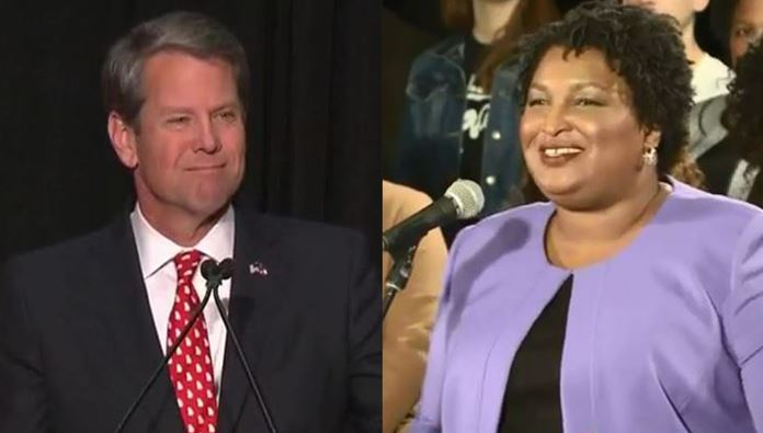 Abrams not conceding, but acknowledging Kemp as winner