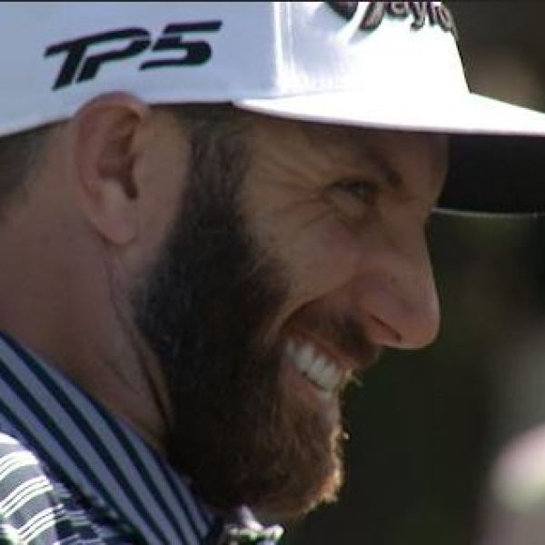 Dustin Johnson takes down Webb Simpson in RBC skills challenge