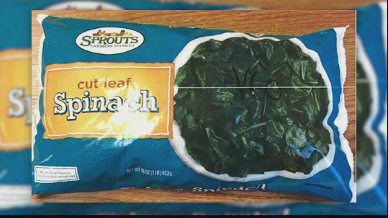 Sprouts Farmers Market recalls frozen spinach after finding traces of Listeria