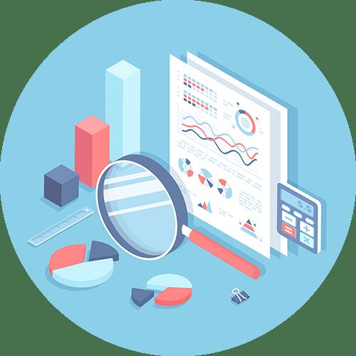 Round Data Graphic