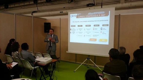 Gilles Dandel en conférence pour la franchise WSI