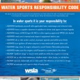 The Watersports Responsibility Code poster, outlining the 10 things all watersports enthusiasts should be aware of when enjoying towed water sports.