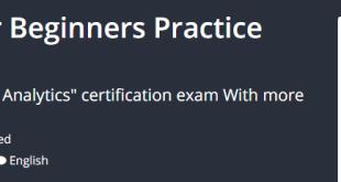 Google Analytics For Beginners Practice Test 2019 Download