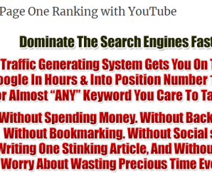 [SUPER HOT SHARE] Tube Raiding $995 – Page One Ranking with YouTube Download