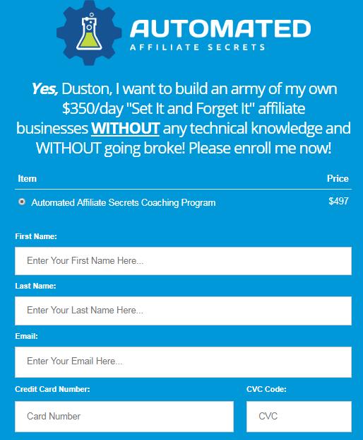 Duston McGroarty - Automated Affiliate Secrets Download
