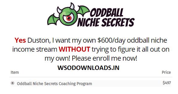 Duston McGroarty - Oddball Niche Secrets Coaching Program Download
