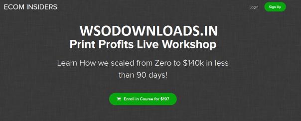 James Beattie – Print Profits Live Workshop Download
