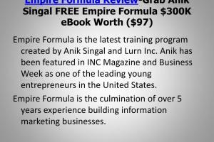 Anik Singal – Empire Formula 2020 Download