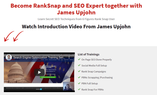 James Upjohn - Secret SEO Techniques from 6 Figures Rank Snap User Free Download