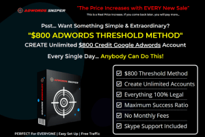 Create Unlimited $850 threshold Adwords Account With High Success Ratio