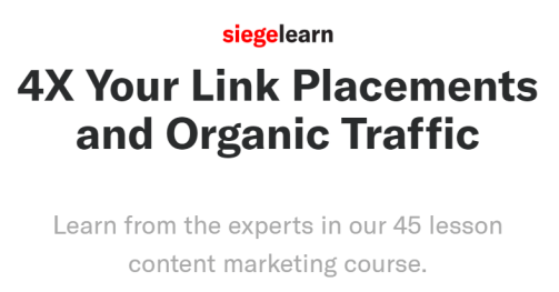SiegeLearn - Content Marketing Course Download