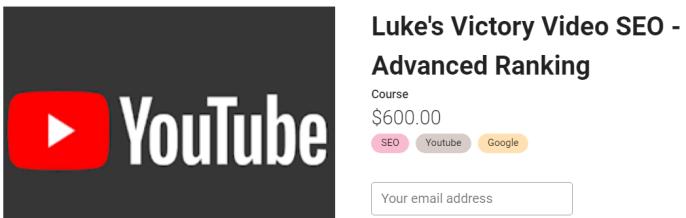 Holly Starks – Luke's Victory Video SEO – Advanced Ranking