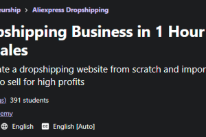 Start Dropshipping Business in 1 Hour & Reach 7 Figure Sales Free Download