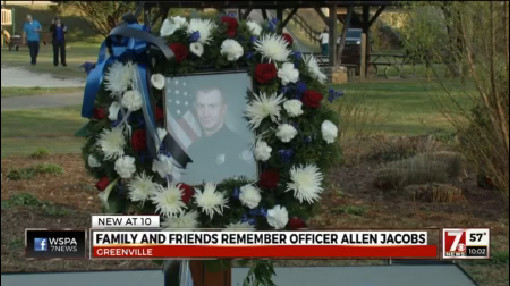 Greenville community mourns death of fallen Officer Allen Jacobs at Tuesday vigil_156068