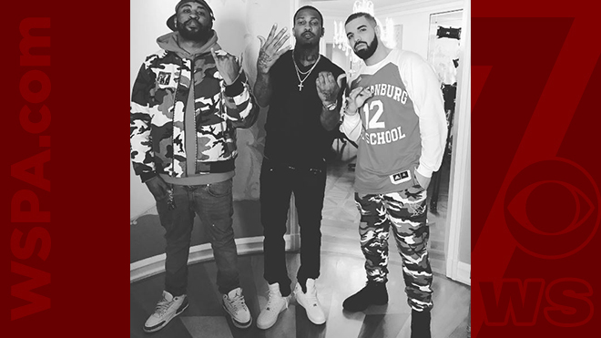 hot sales f0e6f 6a003 Drake wears jersey of Spartanburg Day School basketball star