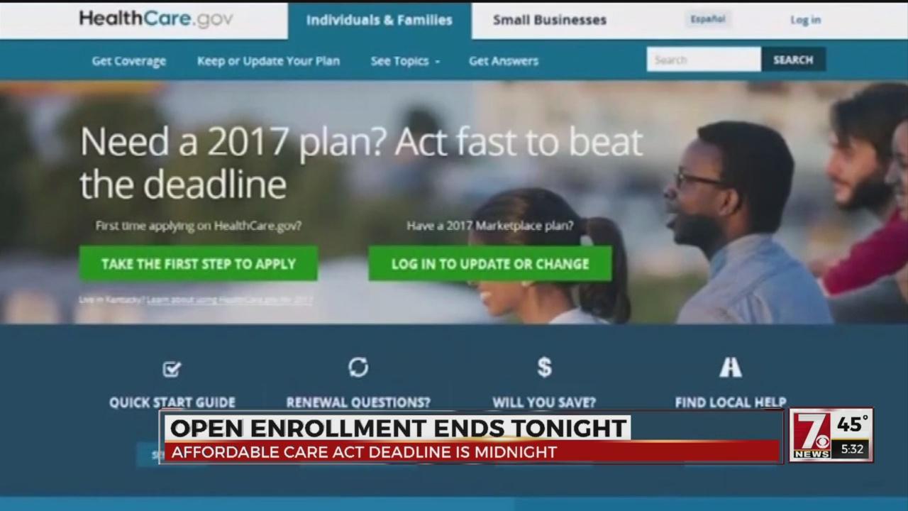 ACA Enrollment Deadline 12/15 at midnight
