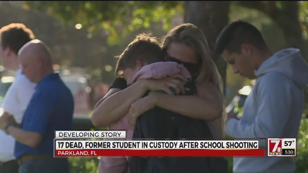17 dead, former student in custody after school shooting