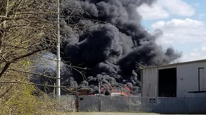 Anderson scrap yard fire