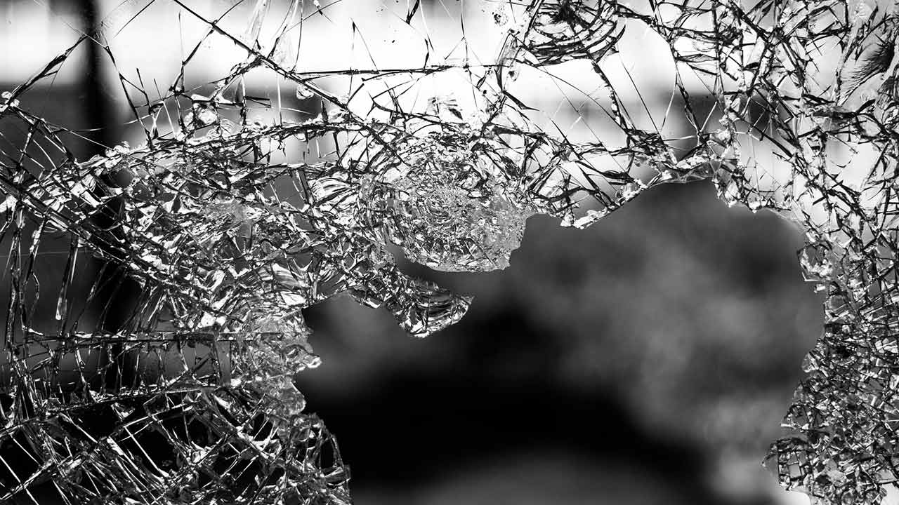 broken glass accident wreck crash generic