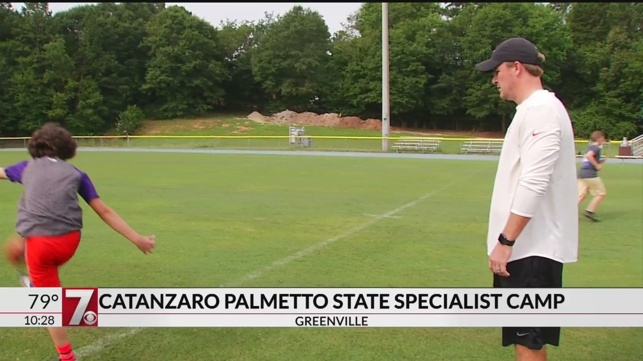 Chandler Catanzaro Hosts Kicking Camp at Christ Church