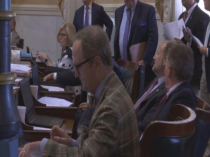 Senators back in chambers