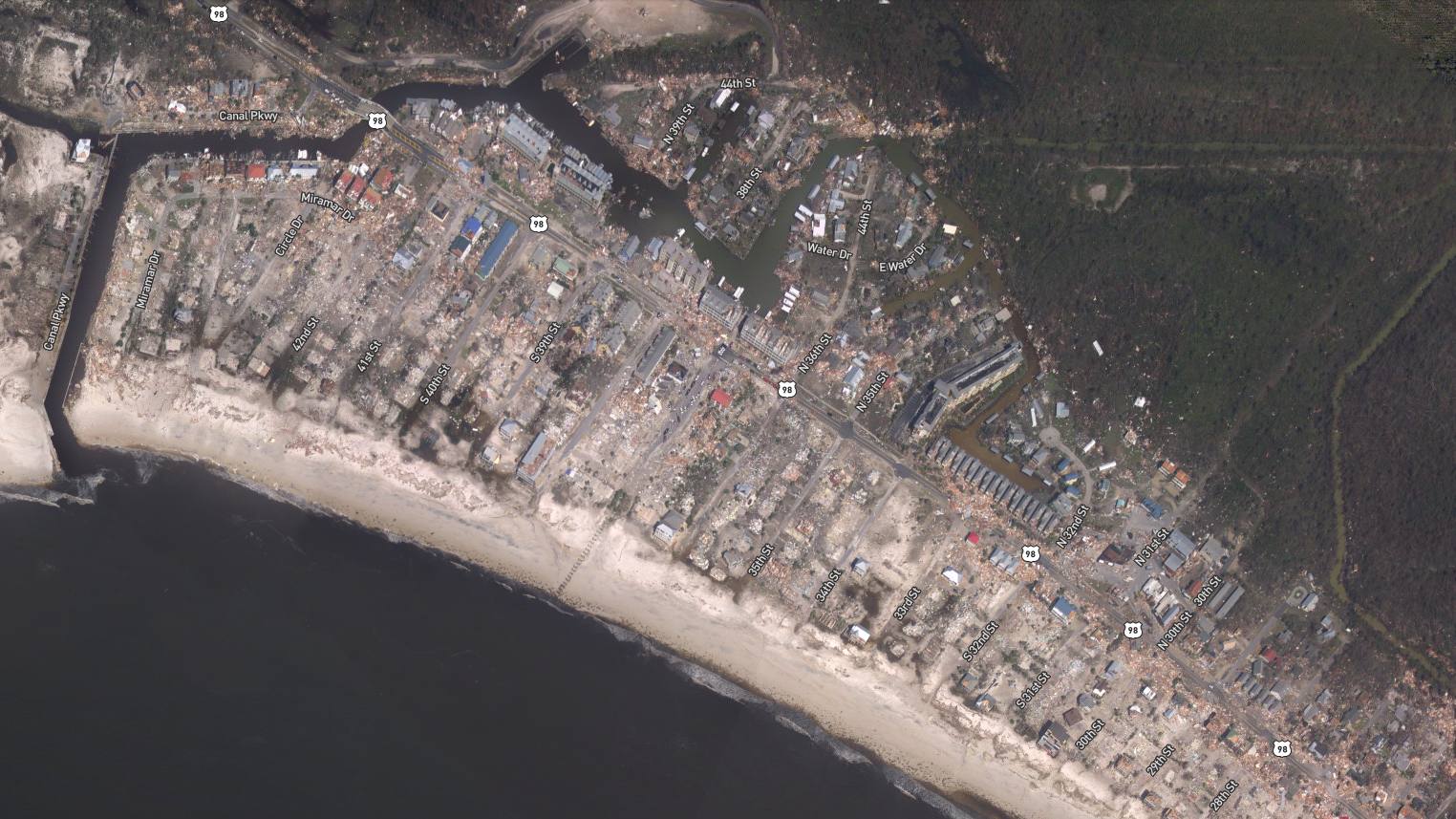 Hurricane Michael storm damage satellite pic NOAA 1539552631547.jpg