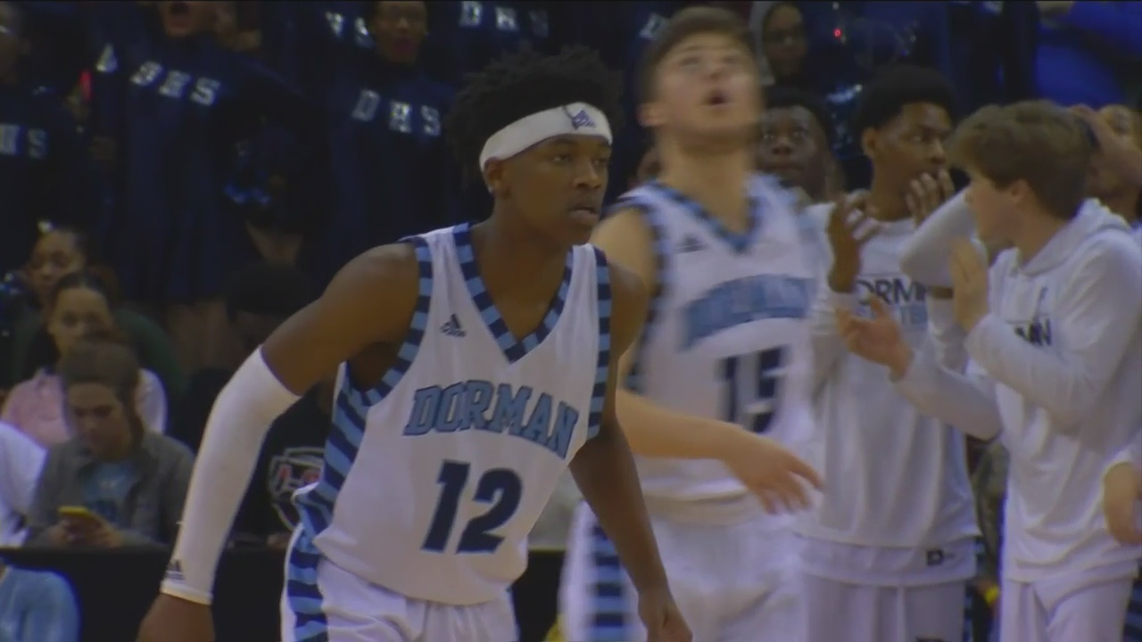 Myles Tate Scores 19 Points to Lead Dorman Past Berkeley, 46-39 for 5A State Title