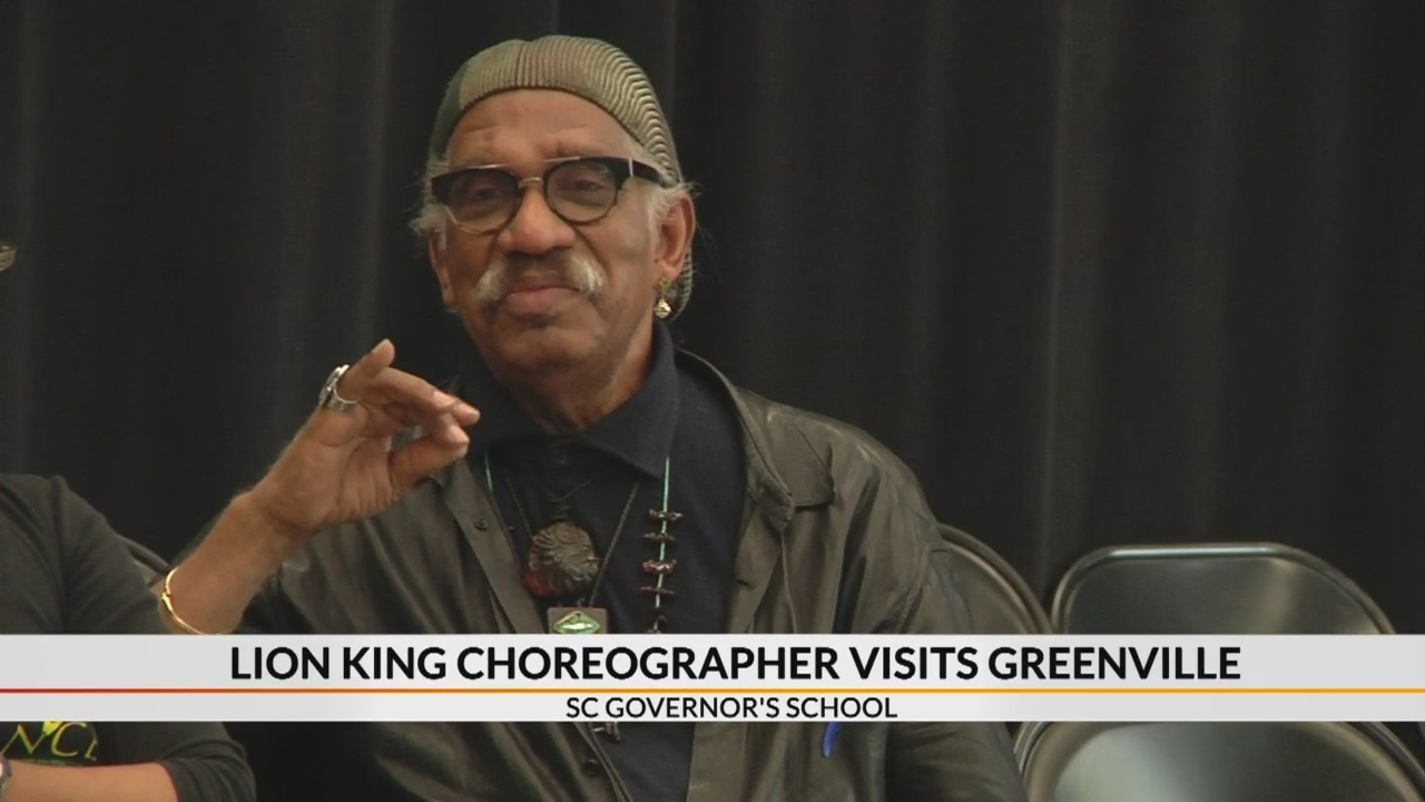 Former Tony Award winning Lion King choreographer visits Greenville