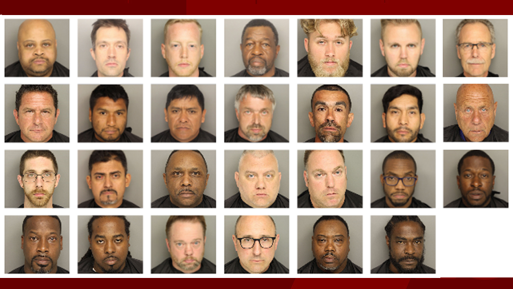 27 men arrested in prostitution sting in Greenville
