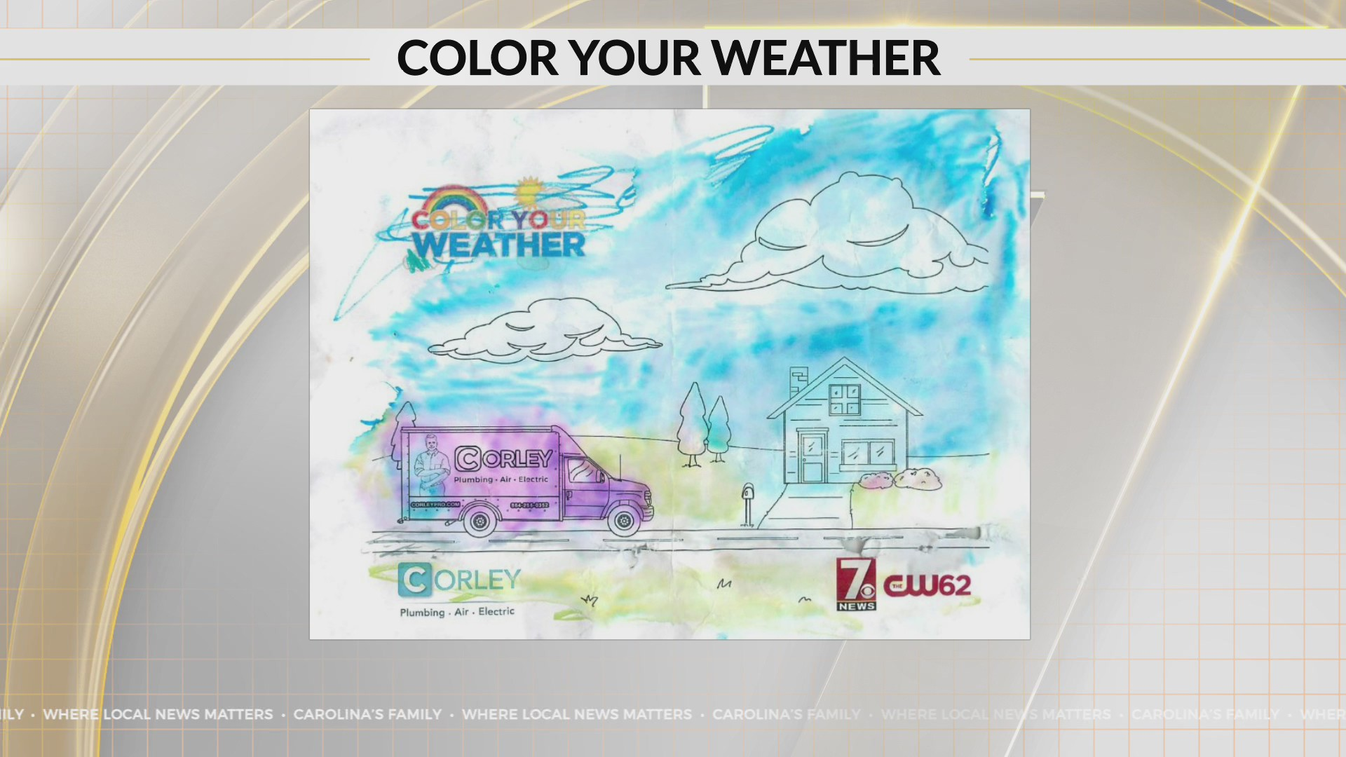 Color Your Weather on 7News WSPA-TV