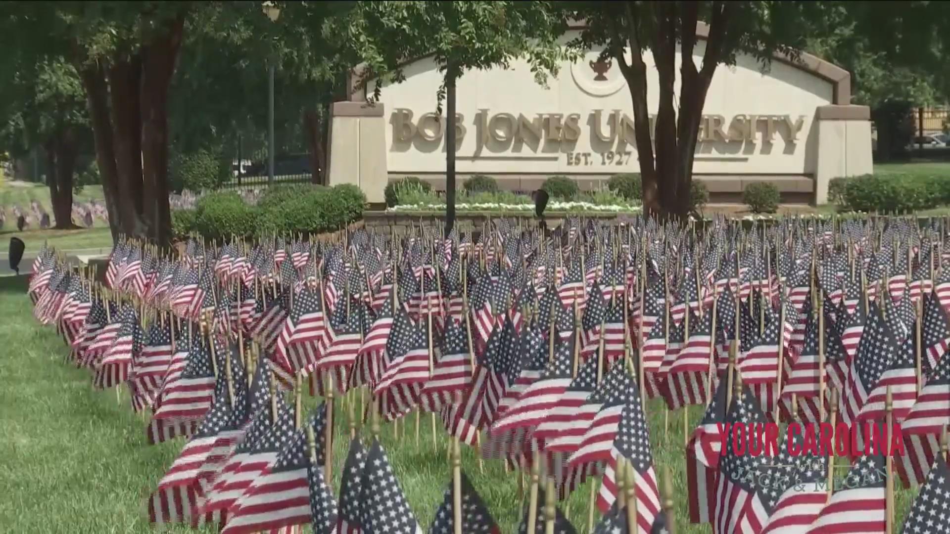 9/11 Flag Display at Bob Jones University